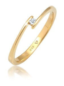 Ring Verlobungsring Diamant (0.03 Ct.) 585 Gelbgold Elli DIAMONDS Gold