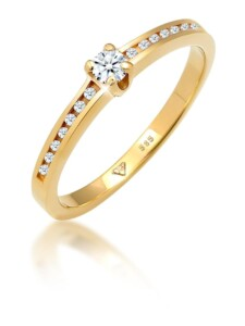 Ring Verlobungsring Diamant (0.24 Ct.) 585 Gelbgold Elli DIAMONDS Gold