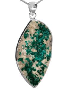 Dioptas Anhänger 925 Silber 1001 Diamonds grün
