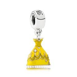 Disney Charm Anhänger Kleid von Belle 925er Silber