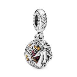 Disney Charm Anna Frozen aus 925er Silber mit Zirkonia