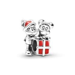 Disney Charm Micky und Minnie Maus aus 925er Silber