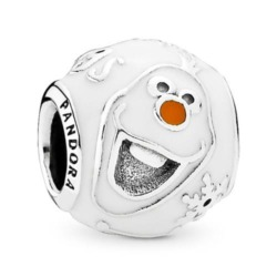 Disney Charm Olaf aus Sterlingsilber mit Emaille