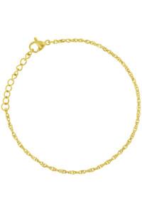 DOUBLE CHAIN Armband gelb vergoldet