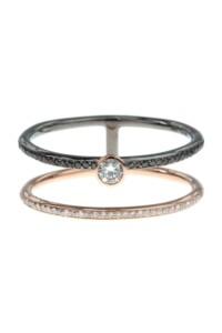DOUBLE Diamant Doppelring