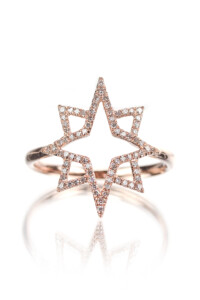 DOUBLE STAR Diamant Ring Roségold
