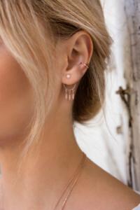 DREAMCATCHER Ear Jackets rosé vergoldet
