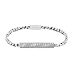 Edelstahl Armband Gansu für Herren, gravierbar