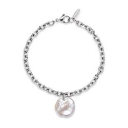 Edelstahl Armband Treasure für Damen mit Perlmutt