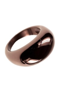 Edelstahl Ring chocolate plated