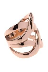 Edelstahl Ring rosé vergoldet
