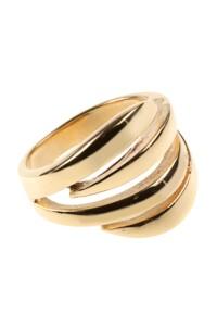 Edelstahl Ring vergoldet