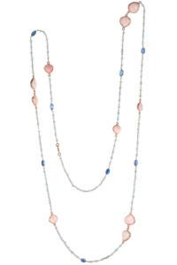EDELSTEIN Halskette Rosé vergoldet