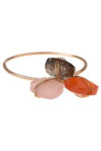 Edelstein Ring rosé vergoldet