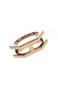 EDGE Ring rosé vergoldet
