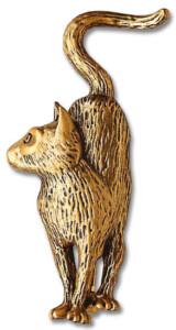 Edouard Manet: Brosche 'Manets Katze', Schmuck