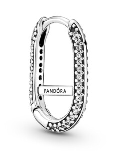 Einzelne Creolen – Pavé Link Earring – Pandora ME – Pandora Silberfarben