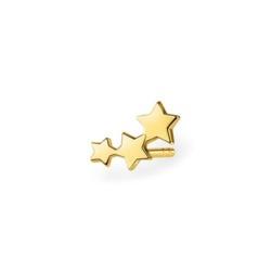 Einzelner Stern Ohrstecker aus vergoldetem 925er Silber