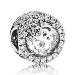 Eiskristall Bead 925er Sterlingsilber