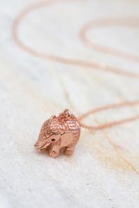 ELEFANT Halskette rosé vergoldet