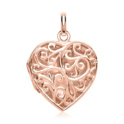 Elegantes Herz viele Verzierungen rosé
