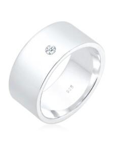 Ring Bandring Basic Diamant (0.03 Ct.) 925 Silber Elli Premium Silber