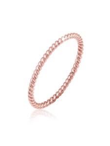 Elli Premium Ring Twisted Gedreht Basic Minimal Look 750 Roségold Elli Premium Rosegold