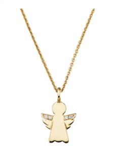Engel-Anhänger Diemer Diamant Gelbgoldfarben