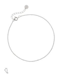 ESSENTIAL|Fußkette Silber