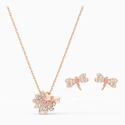 Eternal Flower Dragonfly Set, rosa, Rosé vergoldet