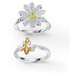 Eternal Flower Ringset, gelb, Metallmix