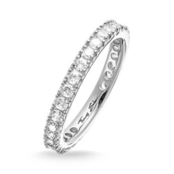 Eternityring für Damen aus 925er Silber mit Zirkonia