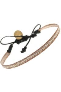 Ethno Armband handgewoben BRAUN &amp  METALLIC