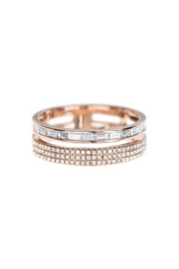 EVERLASTING SHINE Layer Ring 14k Roségold