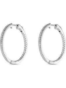 FAVS Damen-Creolen 925er Silber rhodiniert 86 Zirkonia FAVS. silber