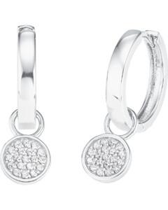 FAVS. Damen-Creole 925er Silber 38 Zirkonia