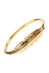 FEDER Ring vergoldet