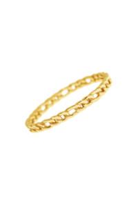 FIGARO CHAIN Ring gelb vergoldet