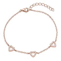 Filigranes Armband roségold mit Herzen