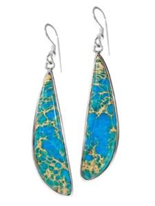 Jaspis Anhänger Fisch 925 Silber blau 1001 Diamonds blau