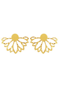 FLORAL Ohrringe 18K gelb vergoldet