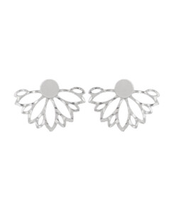 FLORAL|Ear Jackets Silber