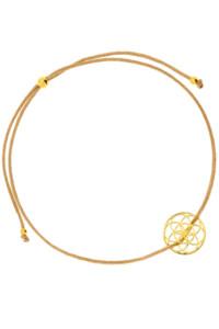 FLOWER OF LIFE Armband gelb vergoldet