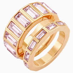 Fluid Stacking Ring, lila, Rosé vergoldet