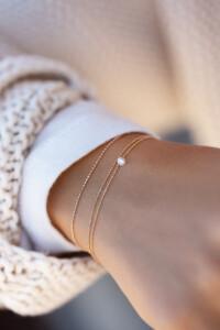 FLYING DIAMOND Armband Roségold