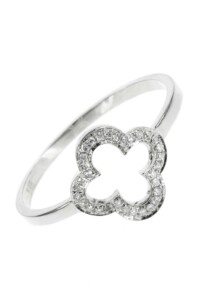FOUR LEAF CLOVER Diamant Ring Weißgold