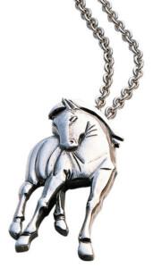 Franz Marc: Anhänger 'Hommage à Franz Marc' mit Kette, Version Silber