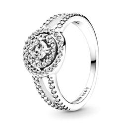 Funkelnder Doppel-Halo-Ring