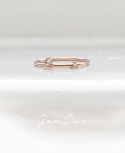 GEM DUO|Ring Rosé