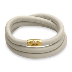 Glänzendes Armband creme gold